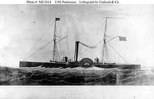 Lithograph of USS Pontoosuc, circa 1865