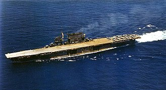 Edward O'Hare - The Aircraft Carrier USS Saratoga (CV-3).