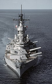 The battleship USS Wisconsin was one of many naval vessels deployed for Operation Desert Shield, and marked one of the few post-World War II times that battleships participated in actual combat operations.