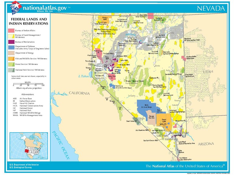 file us government lands and native american reservations in nevada usa pdf