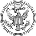 Drawing of the imprint made by the 1877 die of the Great Seal of the United States.