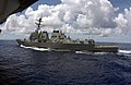 US Navy 030615-N-0905V-084 The guided missile destroyer USS Lassen (DDG 82) underway alongside the aircraft carrier USS Carl Vinson (CVN 70) after a scheduled refueling at sea (RAS).jpg