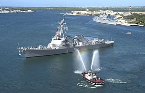 USS Chung-Hoon in her homeport of Pearl Harbor, Hawaii.