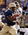 US Navy 051015-N-9693M-012 U.S. Naval Academy Midshipman Quarterback Lamar Owens rushes for yardage in the 4th quarter against the Kent State Golden Flashes.jpg