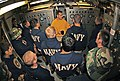 US Navy 061109-N-9708H-001 A class of students enrolled in the 2nd Class Diver Course at the Navy Diving ^ Salvage Training Center listen as Hospital Corpsman Second Class Kelso Sharp instructs the basic operating procedures of.jpg
