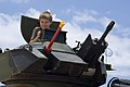 US Navy 080714-N-6674H-048 A child sits in an armored assault vehicle assigned to Combat Assault Company (CAC), 3rd Marine Regiment.jpg