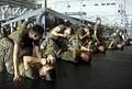 US Navy 090331-N-6552M-017 Marines assigned to the 13th Marine Expeditionary Unit (13th MEU) practice ground fighting skills aboard the amphibious assault ship USS Boxer (LHD 4).jpg