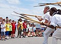 US Navy 110629-N-AU127-032 Sailors assigned to USS Constitution demonstrate 17th century boarding pike drills at the Charlestown Navy Yard during B.jpg