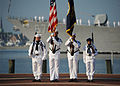 US Navy 110911-N-NY820-085 Color guard members parade the colors during a 9-11 Remembrance ceremony at Town Point Park.jpg