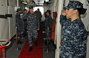 US Navy 120212-N-DX615-002 Capt. Donald R. Cuddington arrives at the change of command ceremony for Amphibious Squadron (PHIBRON) 5 aboard the amph.jpg