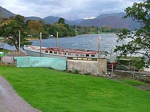 MV Lady Wakefield - Image: Ullswater Motor Launch Undergoing Major Refit geograph.org.uk 73126