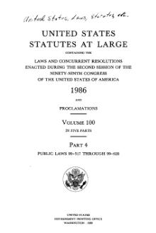 United States Statutes at Large Volume 100 Part 4.djvu