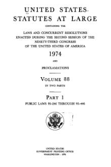 United States Statutes at Large Volume 88 Part 1.djvu