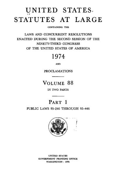 File:United States Statutes at Large Volume 88 Part 1.djvu
