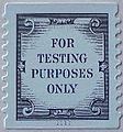 United States test stamp Scott TD136, self-adhesive coil, die cut 9-3.4, Plate number 1111. 2004-05..jpg