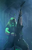 Unleashed, Johnny Hedlund at Party.San Metal Open Air 2013 05.jpg
