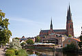 Uppsala cathedral, northern side, from the Fyris river.jpg