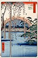 Utagawa Hiroshige - No. 57, Grounds of Kameido Tenjin Shrine (from One Hundred Famous Views of Edo) - Google Art Project.jpg