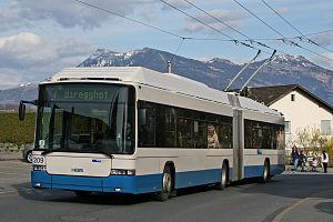 Trolleybuses in Lucerne - Image: VBL ST3 209 Bodenhofterrasse