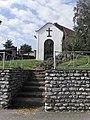 VELKÝ BOR - Kaplička a pařez z lípy, která spadla dne 12. července 2006 v 16.30 hodin(lípa byla stará více jak 150 let).JPG