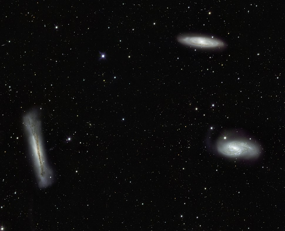 VST%27s view of the Leo Triplet and beyond