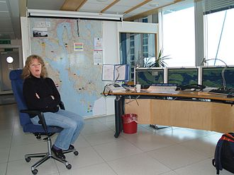 Vessel traffic service - Map of area covered by Horten VTS, from Oslo out to the sea