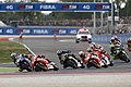 Valentino Rossi and Marc Márquez leading the pack 2015 Misano.jpeg