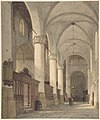 Vaulted Side Aisle of a Church, with Figures MET DP800170.jpg