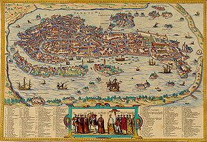 Ionian Islands under Venetian rule - View of Venice in 1565