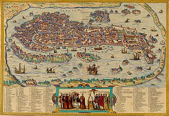 Venetian rule in the Ionian Islands - View of Venice in 1565
