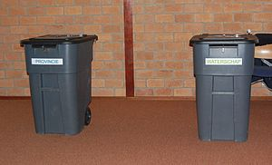Dutch provincial elections, 2015 - Bins for putting in the votes for provinces and water boards