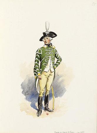 5th Hussar Regiment (France) - Trumpet of the Lauzun's Legion c.1785