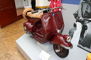 Vespa 125 scooter in the German Technology Mus...