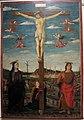 Vicino da ferrara (attr.), crocifissione, da s. antonio a ferrara, 1469-70 ca. 01.JPG