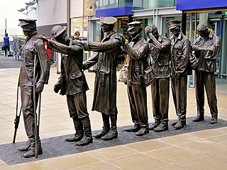 <i>Victory Over Blindness</i> sculpture in Manchester