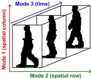 Multilinear subspace learning - A video or an image sequence represented as a third-order tensor of column x row x time for multilinear subspace learning.