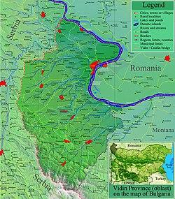 Luogo della provincia di Vidin in Bulgaria