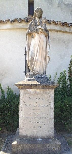 Vierge située derrière l'église de l'Assomption de Charnoz-sur-Ain.