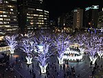 View in front of Hakata Station at night 20181114-2.jpg