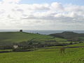View of Abbotsbury from the Bishop's Road on Abbotsbury Plains - geograph.org.uk - 25100.jpg