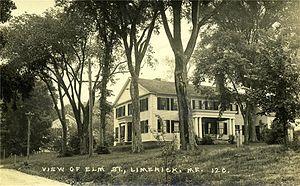 Limerick, Maine - Image: View of Elm Street, Limerick, ME