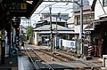 View of Enoshima Station and nearby level crossing 20130809 1.jpg