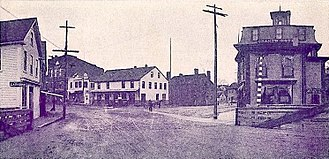 Berwick, Maine - Sullivan Square in 1907
