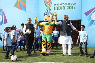 2017 FIFA U-17 World Cup - Vijay Goel and Praful Patel at MXIM Launch