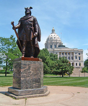 Leif Erikson - Statue of Leif near the Minnesota State Capitol in St. Paul, United States