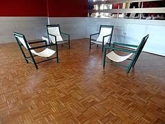 Oak Floor Mosaic In The Playroom.