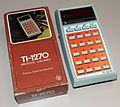 Vintage Texas Instruments Model TI-1270 Electronic Pocket Calculator, Red LED, Made In USA, Circa 1976 (14516084160).jpg