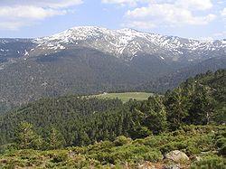 North face of Cabezas de Hierro in spring