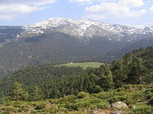 Sierra de Guadarrama - North face of Cabezas de Hierro in spring