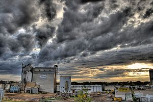 East view of the Viterra plant site, Edmonton,...